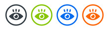 Eye Icon Vector Illustration. View And See Symbol. Observe Concept.