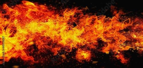 Obraz na plátně 燃え上がる炎のイラスト