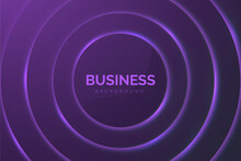 Abstract Business Background With Purple Circles Design Vector Illustration