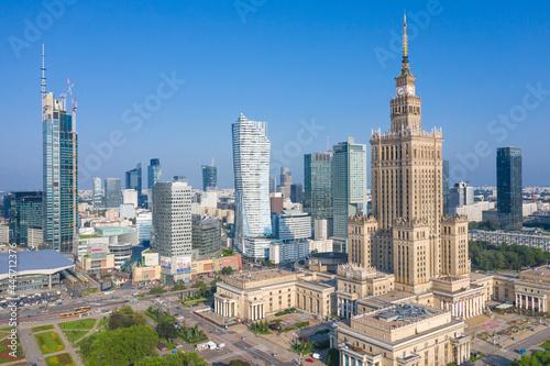 Fotografia, Obraz Panorama centrum Warszawy