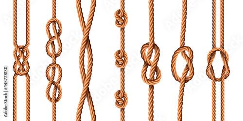 Obraz na plátně Nautical knots