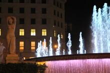 Night Views Of Barcelona Fountain