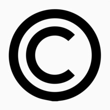 C Letter In Circle Copyright Symbol, Copyright Logo Icon, Sign Vector Isolated On White.