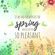 Lovely Spring Background Design Vector Illustration