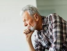 Portrait Senior Man Elderly Old Retirement Mature Gray Hair Indoors Serious Vitality Healthy Active Retired