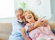 Senior Portrait Woman Man Couple Happy  Retirement Smiling Love Elderly Lifestyle Old Together Active Healthy Vitality Hugging Bonding Romance Having Fun