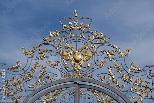 Slika na platnu gilded fence in front of the Catherine Palace, Tsarskoe Selo, the city of Pushki