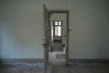 Closeup Shot Of An Abandonedindoor Area Under Renovation