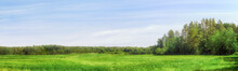 Field And Forest On The Horizon Extra Large Panoramic Landscape