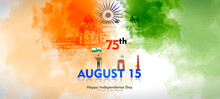 Vector Illustration Of 15th August India Happy Independence Day.