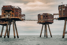 Whitstable Sea Forts WWII World War II Army Navy Maunsell Forts Defence Gun Towers Offshore Sea River