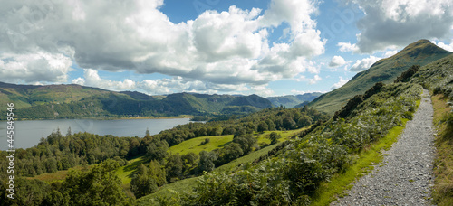 Fotografering A landscape view of Derwent Water, the Lake District, UK
