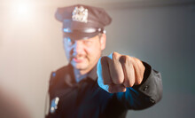 Aggressive Angry Cop Fights Swears And Shouts