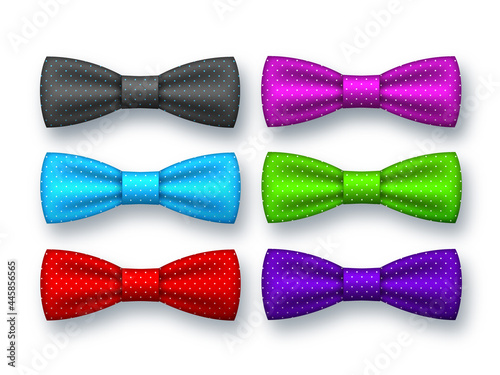 Realistic bow tie collection. Fotobehang