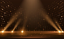 Gold Lights Rays Scene Background