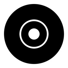 CD Vector Icon Eps 10. Compact Disc Simple Isolated Illustration.