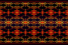 Ethnic Oriental Ikat Pattern Traditional.Aztec Geometric Ornament Art.Abstract Ethnic Geometric Pattern.Design For Fabric,wallpaper,background,wall,tile,carpet,wrapping,clothing,batik