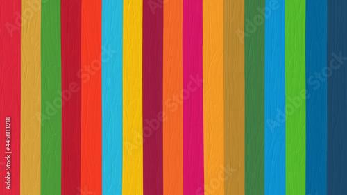 Fotografering SDGsカラーの背景素材、油彩タッチのイラスト、アスペクト比16:9