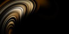 Abstract Creative Golden Wave Background Dark Image Design
