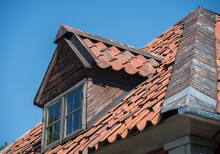 Roof With Dormer On A House From 1800s In A Park In Stockholm. Stockholm