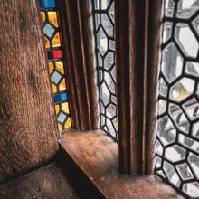 Stained Glass Tudor Window Frame