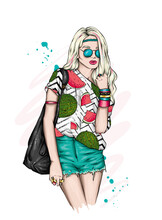 Beautiful Girl Stylish Summer Clothes