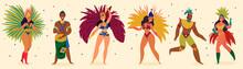 Brazilian Carnival Big Icons Design Elements