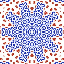 Red And Blue Pattern Illustration Design.