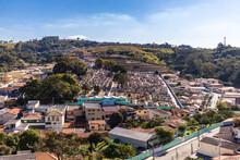 Vista Do Alto Da Cidade De Serra Negra São Paulo.
