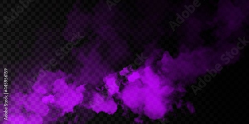 Fotografie, Obraz Vector realistic isolated Purple Smoke effect for decoration and covering on the transparent background