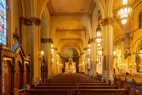Interior view of the Saints Peter and Paul Church