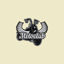 Custom Motorcycle Logo Vintage Vector