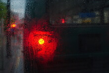 Bus Light Reflecting Into The Window