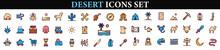 Desert Icons Set.