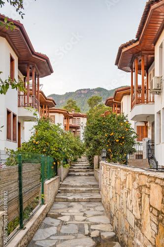 Foto Architecture of the Akyaka slow city in Turkey
