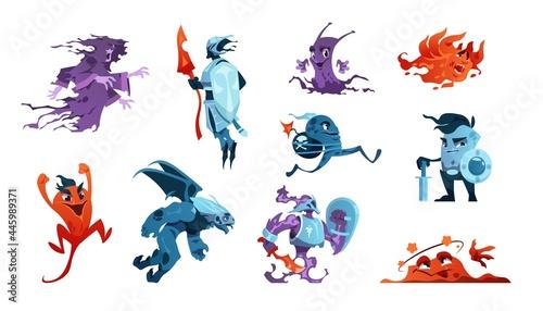 Fotografia Cartoon game monsters