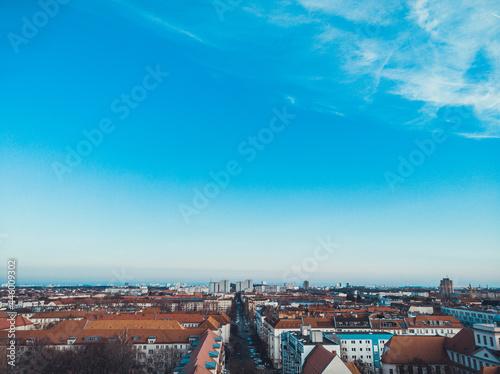 Fotografering street crossing in berlin, photo from birds eye view