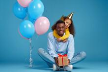 Female Kid Congratulates Her Father, Birthday