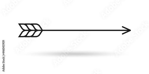 Foto Bow arrow icon. Archery symbol. Vector illustration.