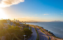 Pôr Do Sol Em Florianópolis, Brasil