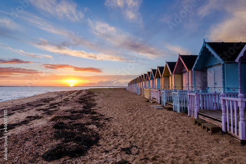 Fotografia West Mersea Bech Hut Sunset