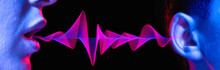Sound Wave. Transmission Of Sound From Person To Person. Loud Noise. Deafness. Gossip.