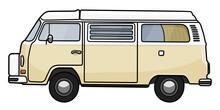 VW T2 Bulli Westfalia Camper Beige