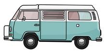 VW T2 Bulli Campervan Westfalia Blau