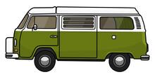 VW T2 Campervan Westfalia Grün