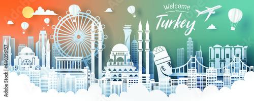 Obraz na plátně turkey landmark travel tourism concept