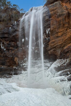 Toccoa Falls In Winter, Georgia