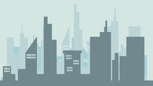 The Capital City Is Full Of Tall Buildings,Illustration Vector EPS 10