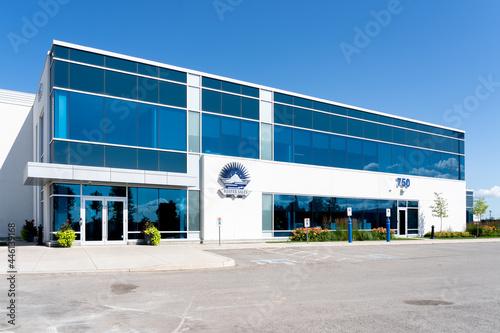 Fototapeta premium Brampton, On, Canada - July 10, 2021: Reefer Sales & Service sign at their head office in Brampton, On, Canada. Reefer Sales is a provider of refrigerated transport hardware, equipment.