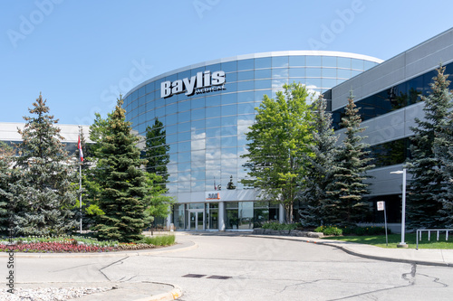 Fototapeta premium Mississauga, On, Canada- July 10, 2021: Baylis Toronto office in Mississauga, On, Canada. Baylis Medical is a Canadian company develops medical devices.